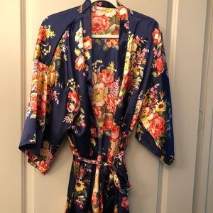 Other - Floral Bath Robe